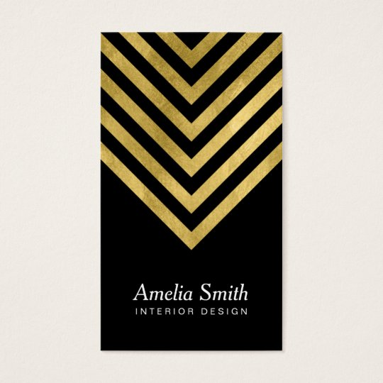 Elegant Black Faux Gold Geometric Social Media Business