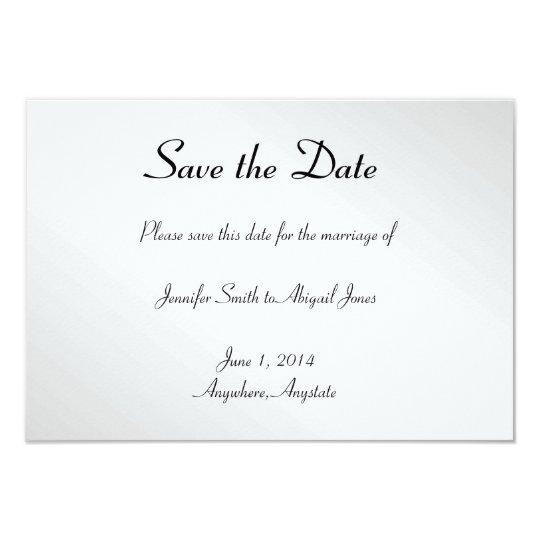 Elegant Black Floral Gay Wedding Save the Date Card