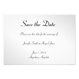 Elegant Black Floral Gay Wedding Save the Date Personalized Invite