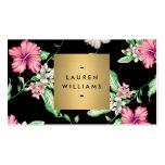 Elegant Black Floral Pattern 5 with Gold Name Logo