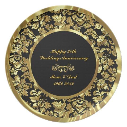 Elegant Black & Gold 50th Wedding Anniversary 2