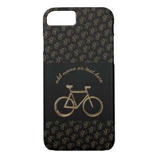 Elegant Black Gold Bike Bicycle Pattern Cycling iPhone 8/7 Case