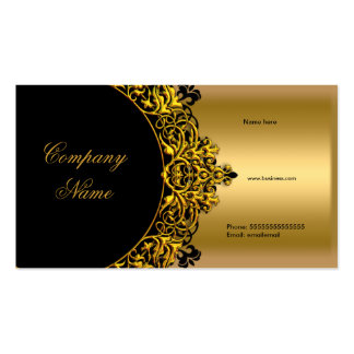 Elegant Black Gold Boutique Double-Sided Standard Business Cards (Pack Of 100)