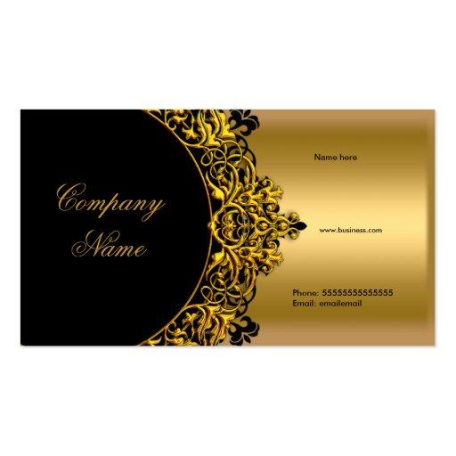 Elegant Black Gold Boutique Business Cards