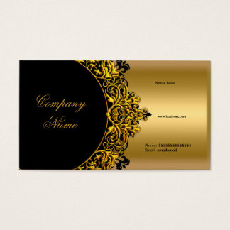 Elegant Black Gold Boutique Business Card
