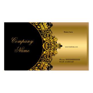 Elegant Black Gold Boutique Pack Of Standard Business Cards