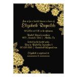 Elegant Black & Gold Bridal Shower Invitations Custom Invitation