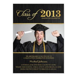 Elegant Black & Gold Class of 2013 Graduation 14 Cm X 19 Cm Invitation Card