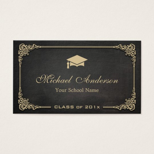 Elegant Black Gold Class of Graduate Student Business