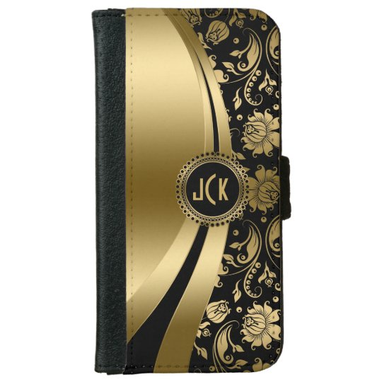 Elegant Black & Gold Floral Damask & Dynamic