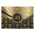 Elegant Black & Gold Floral Damasks 2 Placemat