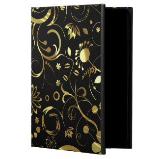 Elegant Black & Gold Foil Look Floral Damasks Powis iPad Air 2 Case