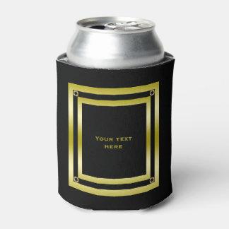 Elegant Black & Gold Framed Can Cooler