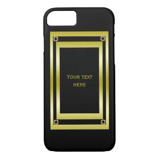 Elegant Black & Gold Framed iPhone 8/7 Case