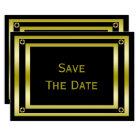 Elegant Black & Gold  Man's 70th Save The Date Card