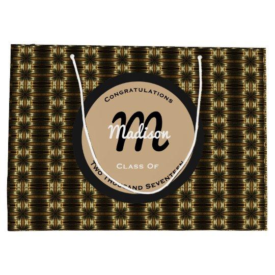 Elegant Black & Gold Personalised Graduation Large Gift