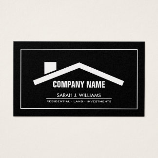 Elegant Black & Gold Professional Real Estate Business Card
