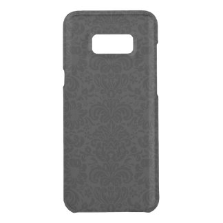 Elegant Black & Gray Floral Damasks Pattern Uncommon Samsung Galaxy S8 Plus Case