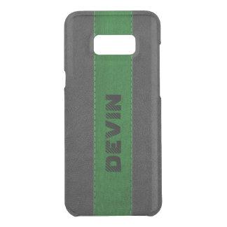 Elegant Black & Green Stitched Vintage Leather Uncommon Samsung Galaxy S8 Plus Case