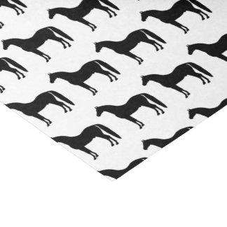 Elegant Black Horse Tissue Paper