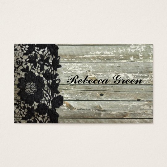 Elegant black lace barn wood country wedding business
