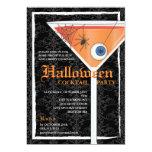 Elegant Black Lace Halloween Cocktail Party 13 Cm X 18 Cm Invitation Card