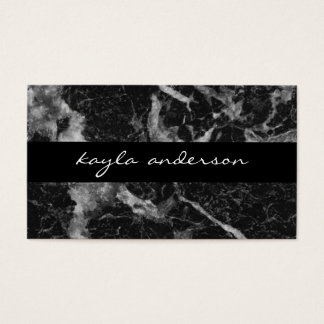 Elegant Black Marble Abstract Professional Business Card