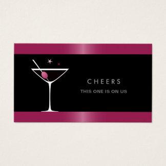 Elegant black martini cocktail glass drink voucher