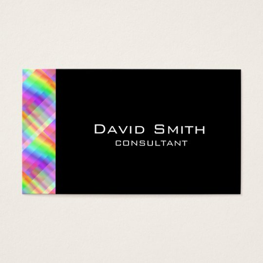 Elegant black modern professional hologram business card