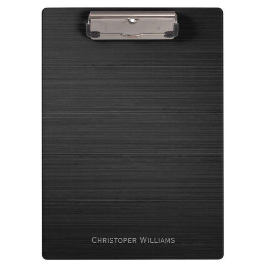 Elegant black perforated metal personalised clipboard
