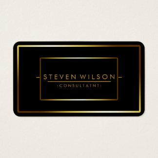 Elegant Black Professional Modern Plain Gold