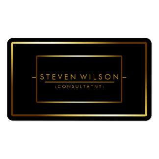 Elegant Black Professional Modern Plain Gold Pack Of Standard Business Cards