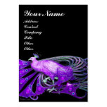 ELEGANT BLACK PURPLE PEACOCK FASHION JEWEL PACK OF CHUBBY BUSINESS CARDS