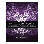 Elegant Black Purple & White Tones Vintage Frame