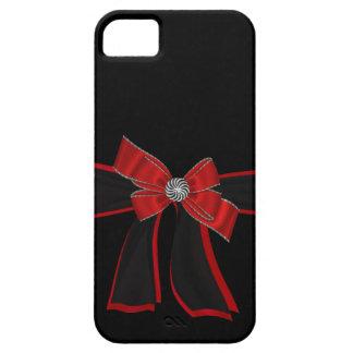 Elegant Black & Red Rhinestone,Bow Iphone Case iPhone 5 Covers