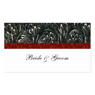 Elegant Black, Red, White Place Cards Business Card Templates