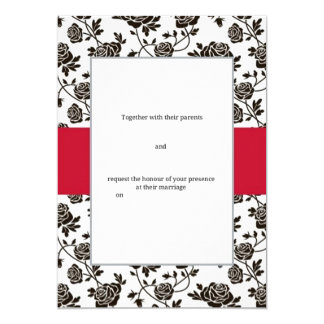 Elegant Black Rose Card