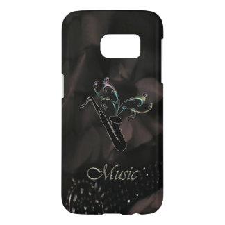 Elegant Black Saxophone Music Galaxy S7 Case