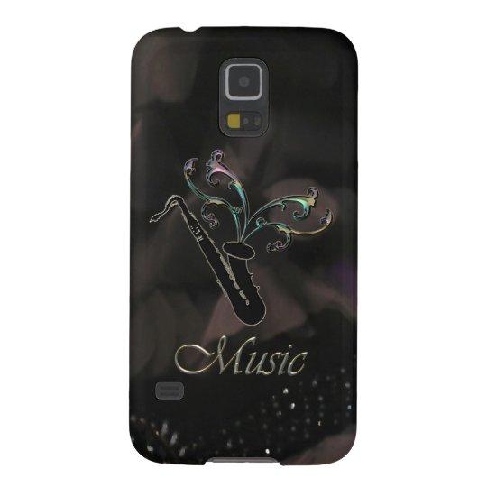 Elegant Black Saxophone Samsung Galaxy S5 Case