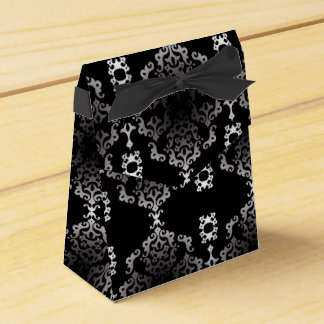 Elegant Black Scroll - Favor Box Party Favour Boxes