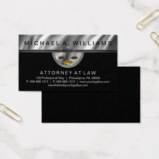 Elegant Black   Silver Lawyer Legal Law Business
