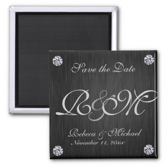 Elegant Black / Silver with Diaminds Save the