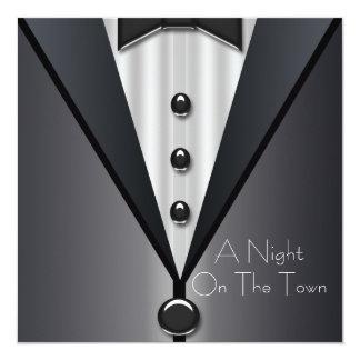 Elegant Black Tie Formal Prom Invitations