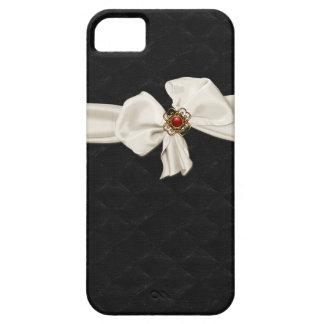 Elegant Black Tufted Velvet Look iPhone 5S Case Case For The iPhone 5