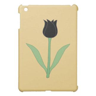Elegant Black Tulip on Gold Color. Case For The iPad Mini