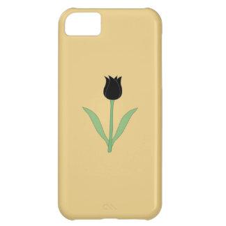 Elegant Black Tulip on Gold Color. iPhone 5C Case