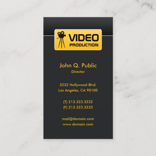 Elegant black video and film production business card zazzle elegant black video and film production business card reheart Images