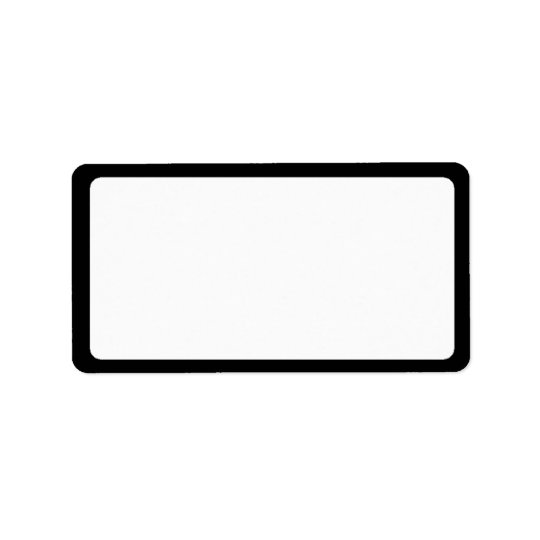 Elegant Black & White Address Labels