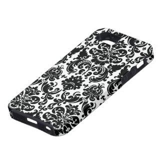 Elegant Black White Damask Pattern iPhone 5 Case