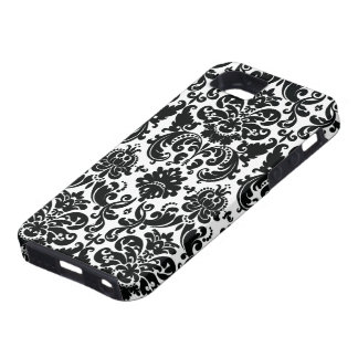Elegant Black White Damask Pattern iPhone 5 Cover
